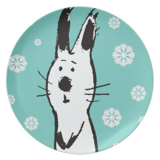 Sweet Snow Rabbit Party Plate
