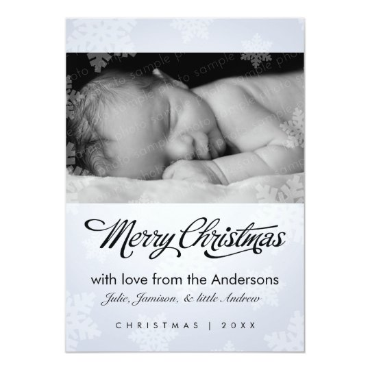 Sweet snowflake holiday photo card