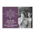 Sweet Snowflake Save the Date Invite, Purple