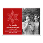 Sweet Snowflake Save the Date Invite, Red