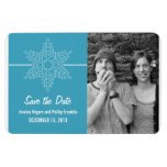 Sweet Snowflake Save the Date Magnet, Blue