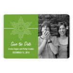 Sweet Snowflake Save the Date Magnet, Green