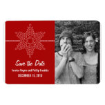 Sweet Snowflake Save the Date Magnet, Red