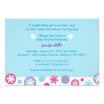 Sweet Snowflake WInter Baby Shower Invitations