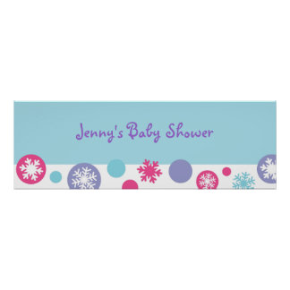 Sweet Snowflake Winter Banner Sign
