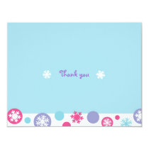 Sweet Snowflake Winter Thank You Note Cards