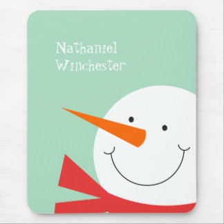 Sweet Snowman Mouse Pad