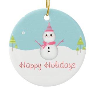 Sweet Snowman Ornament ornament