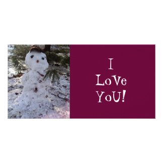 SweeT SNoWMaN Personalized Photo Card