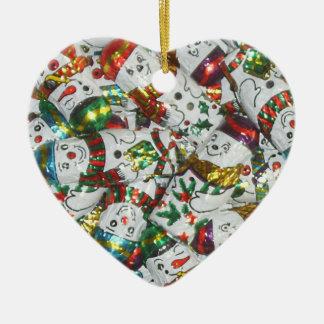 Sweet Snowmen ornament heart
