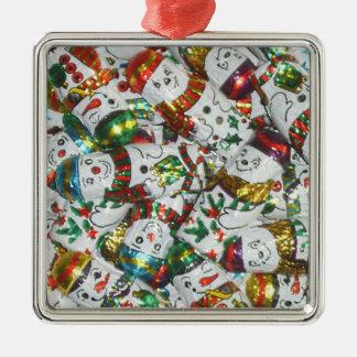 Sweet Snowmen ornament square
