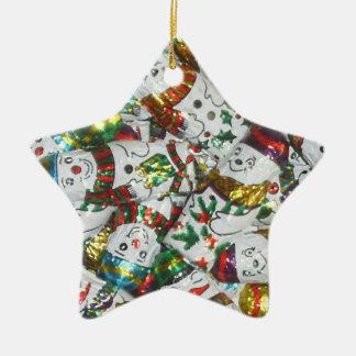 Sweet Snowmen ornament star