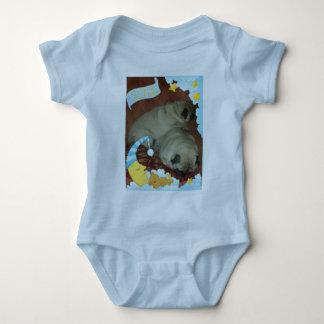 Sweet Snuggle Puggle Dreams Baby Bodysuit