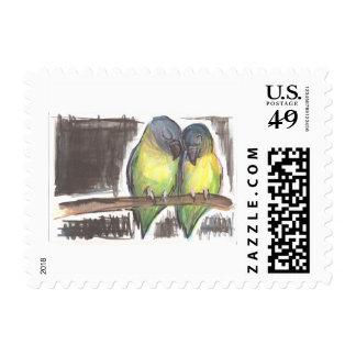 Sweet Snuggles Lovebird Stamp