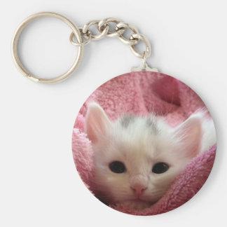 Sweet soft kitty keychain