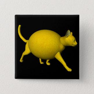 Sweet-Sour Lemon Cat Pinback Button