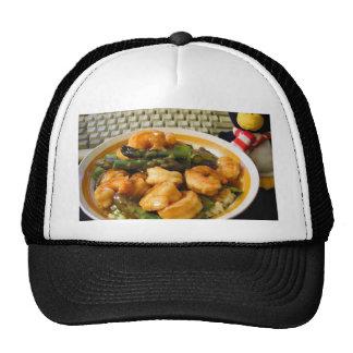 Sweet Sour Shrimp Pea Pods Asparagus Food Dinner Trucker Hats