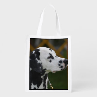 Sweet Spotted Dalmatian Grocery Bag