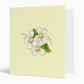 Sweet Spring Flower Blossom Cartoon Clipart Design Binder
