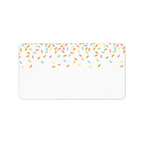 Sweet Sprinkles Address Label