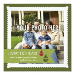"Sweet & Square : Custom Photo Holiday Card 2 5.25"" Square Invitation Card"
