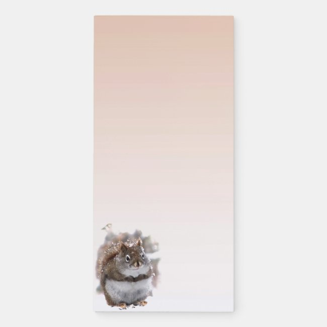 Sweet Squirrel Animal Magnetic Fridge Notepad