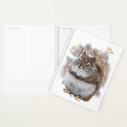 Sweet Squirrel Animal Nature Planner