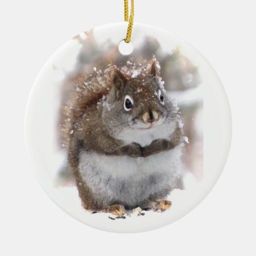 Sweet Squirrel Ceramic Ornament