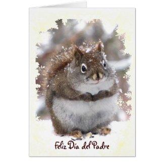Sweet Squirrel Dia del Padre Card