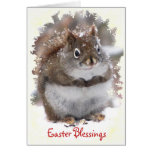 Sweet Squirrel Easter Greeting Card