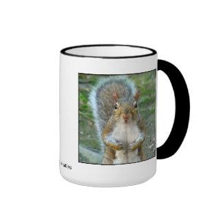Sweet Squirrel Face Ringer Mug