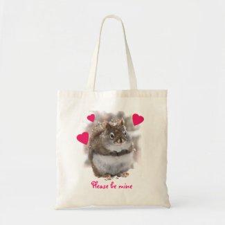 Sweet Squirrel Valentine Budget Tote Bag