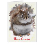 Sweet Squirrel Valentine Greeting Card