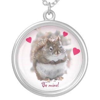 Sweet Squirrel Valentine Pendant