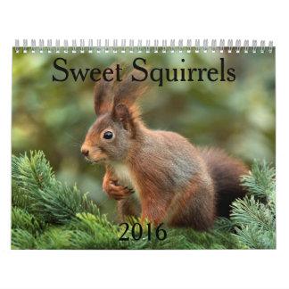 Sweet Squirrels 2016 Calendar