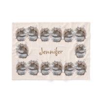Sweet Squirrels Fleece Blanket