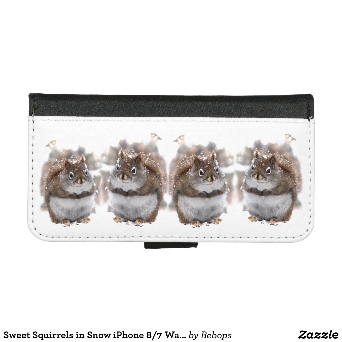 Sweet Squirrels in Snow iPhone 8/7 Wallet Case