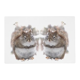 Sweet Squirrels Laminated Placemat