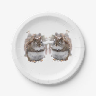 Sweet Squirrels  Paper Plates 7 Inch Paper Plate