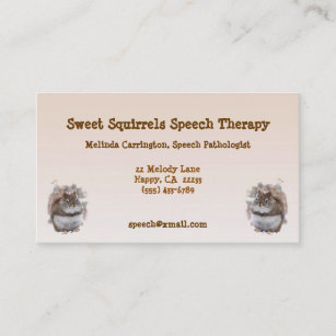 Speech therapy business cards templates zazzle sweet squirrels speech therapy business card colourmoves