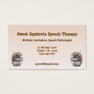 Sweet Squirrels Speech Therapy Business Card