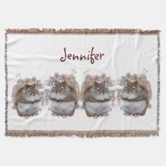 Sweet Squirrels Throw Blanket