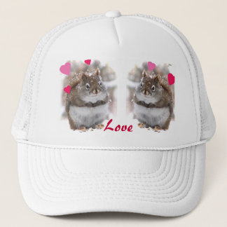 Sweet Squirrels Valentine Trucker Hat