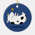 Sweet Star Dog Christmas Ornament (Circle)