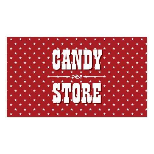 Sweet Star Patterns Candy Store Business Card (front side)