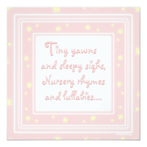 Sweet Stars Pink Baby Shower Invitation