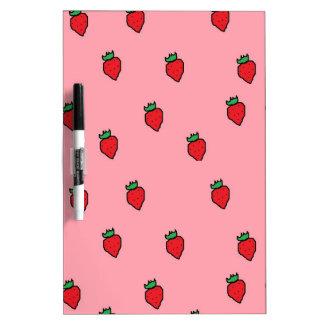 Sweet Strawberries Dry Erase Board