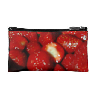 Sweet strawberries in the grocery cosmetic bag