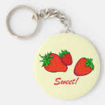 Sweet strawberries keychains
