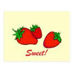 Sweet strawberries postcards